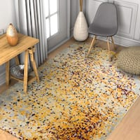"Well Woven Abstract Modern Yellow Area Rug - 7'10"" x 10'6"""
