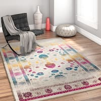 Well Woven Bohemian Modern Mension Multicolor Area Rug - 5'3 x 7'5