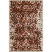 """Well Woven Bohemian Vintage Brown Mat Accent Rug - 2'3"""" x 3'11"""""""