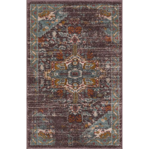 Well Woven Bohemian Vintage Farmhouse Blue Area Rug (2'3 x 3'11)