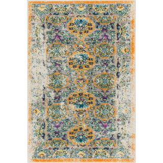 Well Woven Bohemian Vintage Traditional Orange Area Rug (2'3 x 3'11)