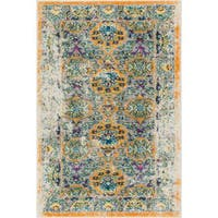 """Well Woven Bohemian Vintage Traditional Orange Mat Accent Rug - 2'3"""" x 3'11"""""""