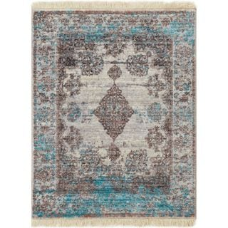 Well Woven Chic Luxury Modern Blue Area Rug (2' x 2'7)