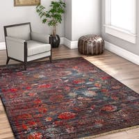 Well Woven Brown Chic Luxury Modern Boho Antimicrobial Stain-resistant Area Rug - 5'3 x 7'7