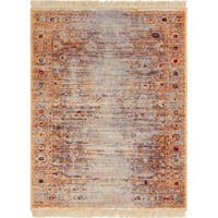 Well Woven Chic Luxury Modern Boho Gold Area Rug - 2' x 3'