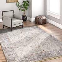 Well Woven Chic Luxury Modern Eclectic Beige/Grey Area Rug - 3'11 x 5'7