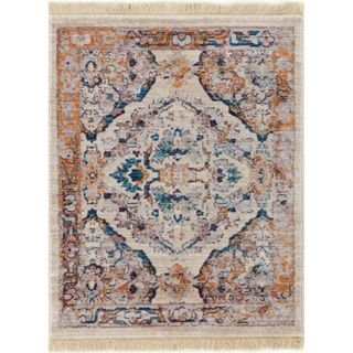 Well Woven Chic Luxury Modern Floral Beige Area Rug (2' x 2'7)