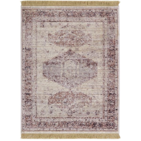 Well Woven Chic Luxury Southwestern Beige Mat Accent Rug - 2' x 3'