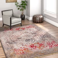 Well Woven Chic Luxury Vintage Distressed Beige Area Rug (3'11 x 5'7)