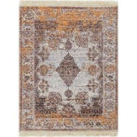 Well Woven Chic Luxury Vintage Gold Area Rug - 2' x 3'
