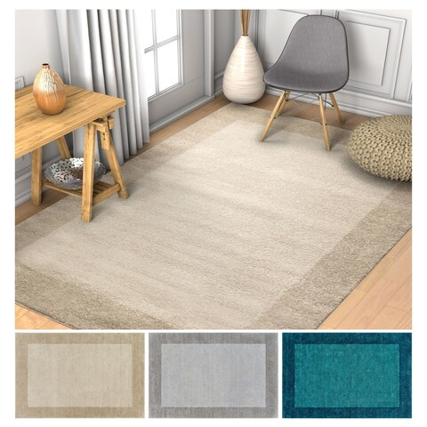 """Well Woven Distressed Ombre Border Area Rug - 7'10"""" x 10'6"""""""