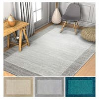 """Well Woven Distressed Transitional Ombre Border Area Rug - 3'3"""" x 4'7"""""""