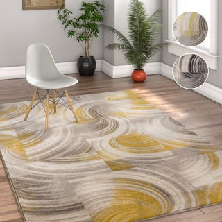 Well Woven Modern Geometric Abstract Area Rug - 5' x 7'