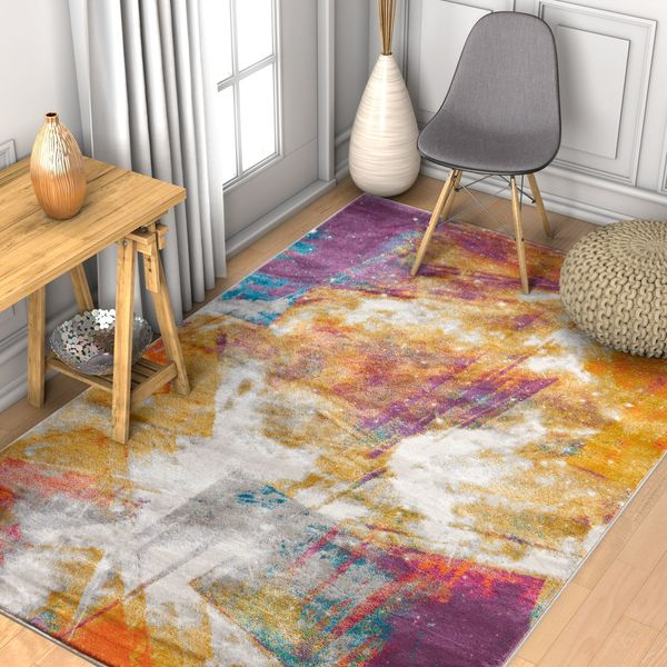 "Well Woven Modern Abstract Area Rug - 7'10"" x 10'6"""