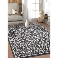 Well Woven Modern Abstract Soft Grey Area Rug - 7'10 x 9'10