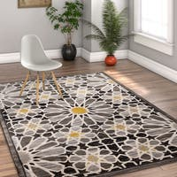 Well Woven Modern Floral Multicolor Area Rug - 7'10 x 10'6