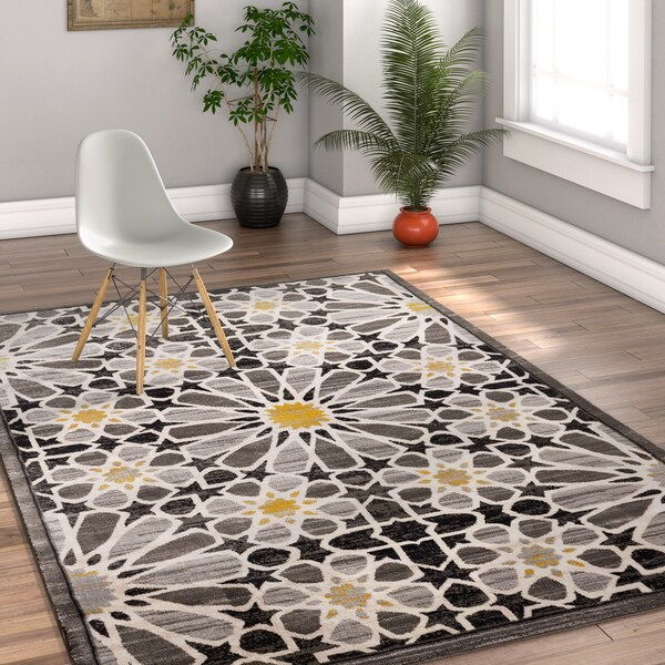 Well Woven Modern Floral Multicolor Area Rug - Multi - 7'10 x 10'6