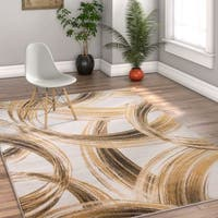 Well Woven Modern Scrolls Stain-resistant Area Rug - 5' x 7'