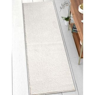Well Woven Modern Solid Soft White Runner Rug (2'3 x 7'3)