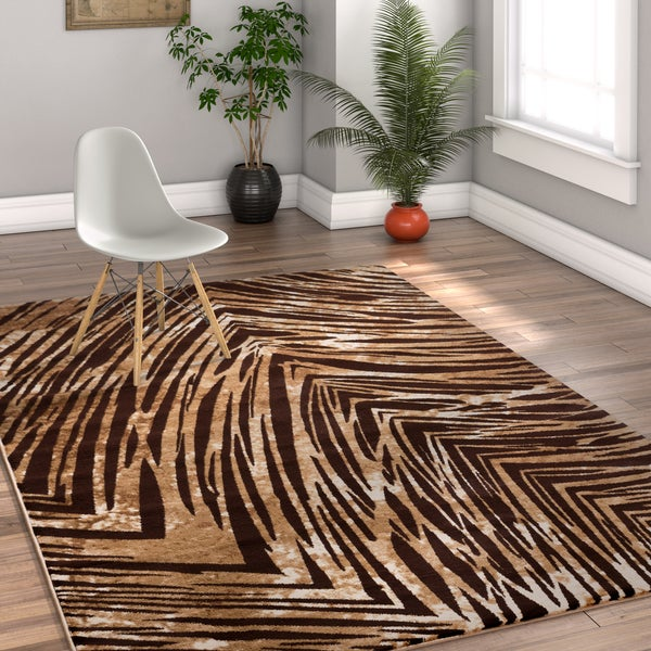 Well Woven Multicolor Striped Area Rug - 5' x 7'