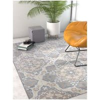Well Woven Modern Tile Work Geometric Vintage Soft Blue Area Rug - 7'10 x 9'10