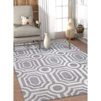 Well Woven Modern Grey Tile Work Area Rug - 7'10 x 9'10