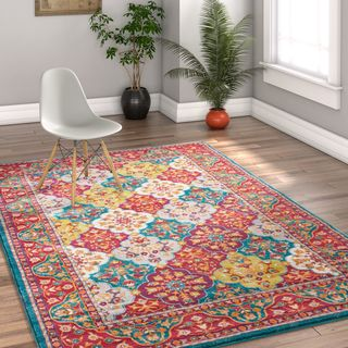Well Woven Traditional Panel Multicolor Area Rug - Multi - 5'3 x 7'3