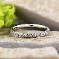 Auriya 14k White Gold 2/5ct TDW Round Diamond Wedding Anniversary Band