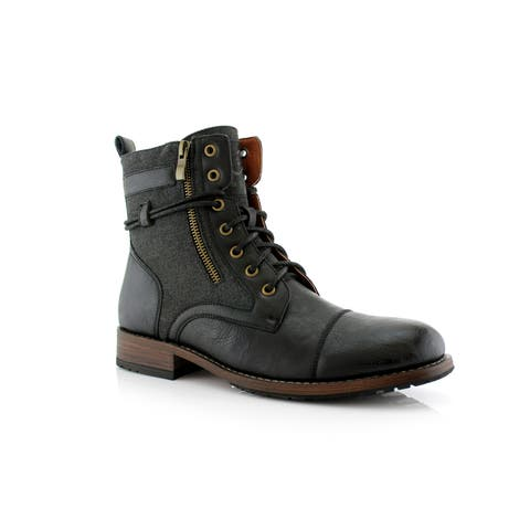 5fea7a20e3d Polar Fox Kanye MPX808578 Men s Combat Boots For Work or Casual Wear
