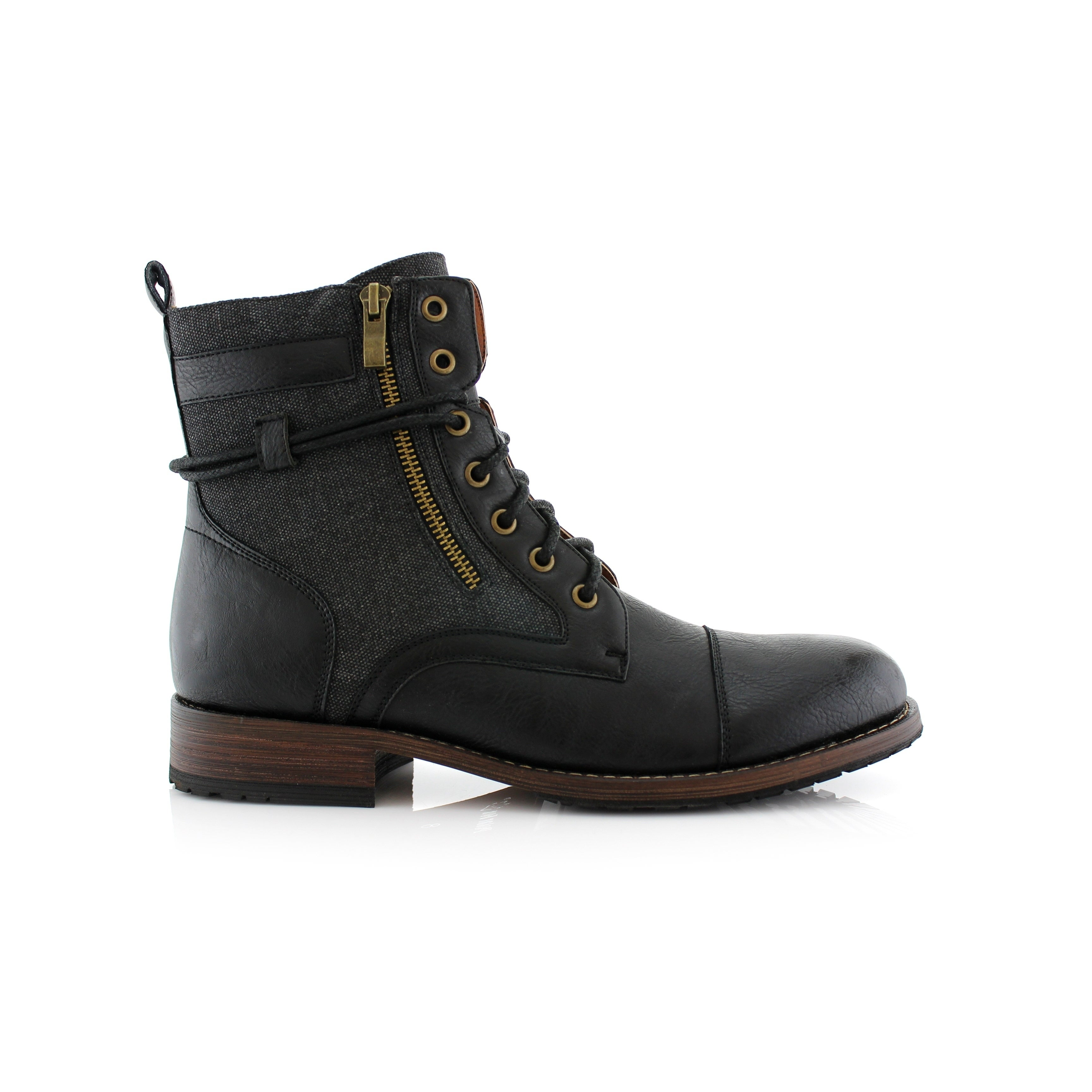 Polar Fox Kanye MPX808578 Men\u0027s Combat Boots For Work or Casual Wear