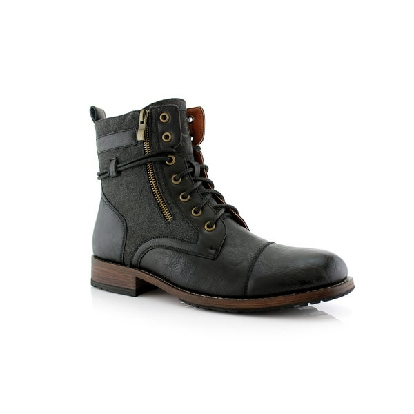 77e5995e034fa6 Polar Fox Kanye MPX808578 Men's Combat Boots For Work or Casual Wear