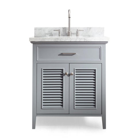 Ariel Kensington 31 In. Single Sink Vanity in Grey
