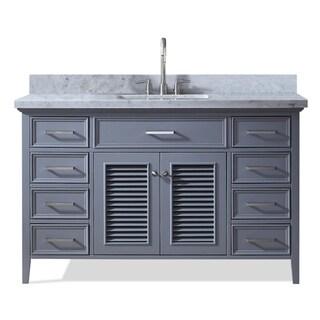 Ariel Kensington 55 In. Single Sink Vanity in Grey