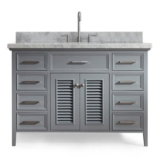 Ariel Kensington 49 In. Single Sink Vanity in Grey