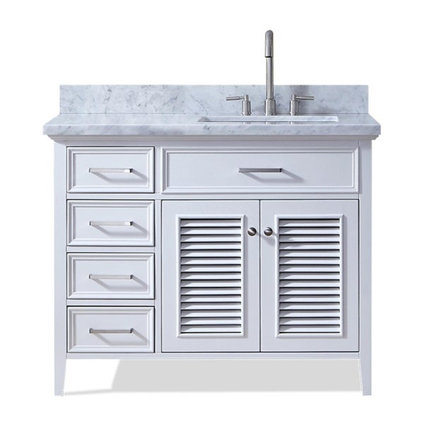 Shop Ariel Kensington 43 In Right Offset Single Sink Vanity In White Free Shipping Today