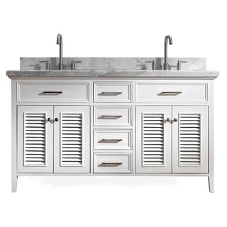 Ariel Kensington 61 In. Double Sink Vanity in White