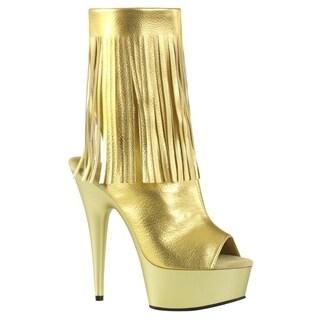 "PLEASER DELIGHT-1019 Women 6"" Stiletto Heel 1 3/4"" Platform Open Toe Ankle Boot"