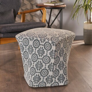 Audrey Fabric Curved Ottoman Stool by Christopher Knight Home