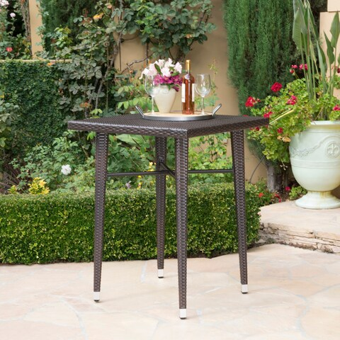Dominica Outdoor 32-inch Square Wicker Bar Table by Christopher Knight Home