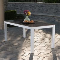 Bali Outdoor Rectangle Wood Dining Table by Christopher Knight Home