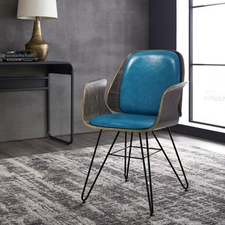 Corvus Madonna Mid Century Teal Accent Chair Free