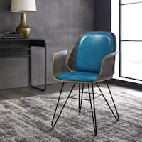 Corvus Marsala Industrial Mid-Century Accent Chair
