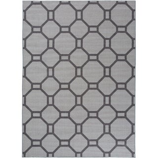 "Contemporary Geometric Non-Slip Rug Gray - 1'8"" x 2'6"""