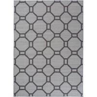 """Contemporary Geometric Non-Slip Rug Gray - 1'8"""" x 2'6"""""""