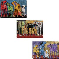 Best Friends, Looking for Trouble, and Cast of Characters by Jenny Foster 3-piece Gallery-Wrapped Canvas Giclee Art Set