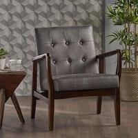 Callahan Mid Century Modern Microfiber Club Chair by Christopher Knight Home
