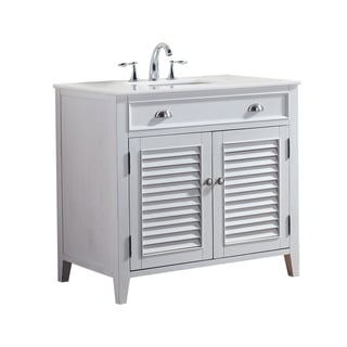 Modetti Palm Beach 36-inch Single-sink Bathroom Vanity With Marble Top