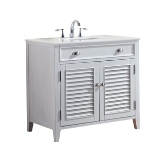 Modetti Palm Beach 36-inch Single Sink Bathroom Vanity with Marble Top