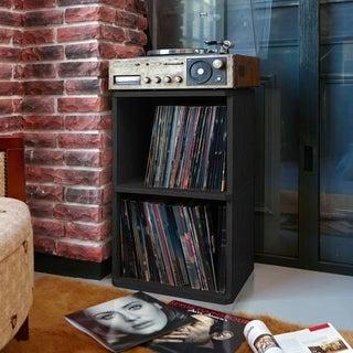 Eco 2-Shelf Vinyl LP Record Album Storage Cube Black LIFETIME GUARANTEE
