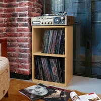 Eco 2-Shelf Vinyl LP Record Album Storage Cube Natural LIFETIME GUARANTEE